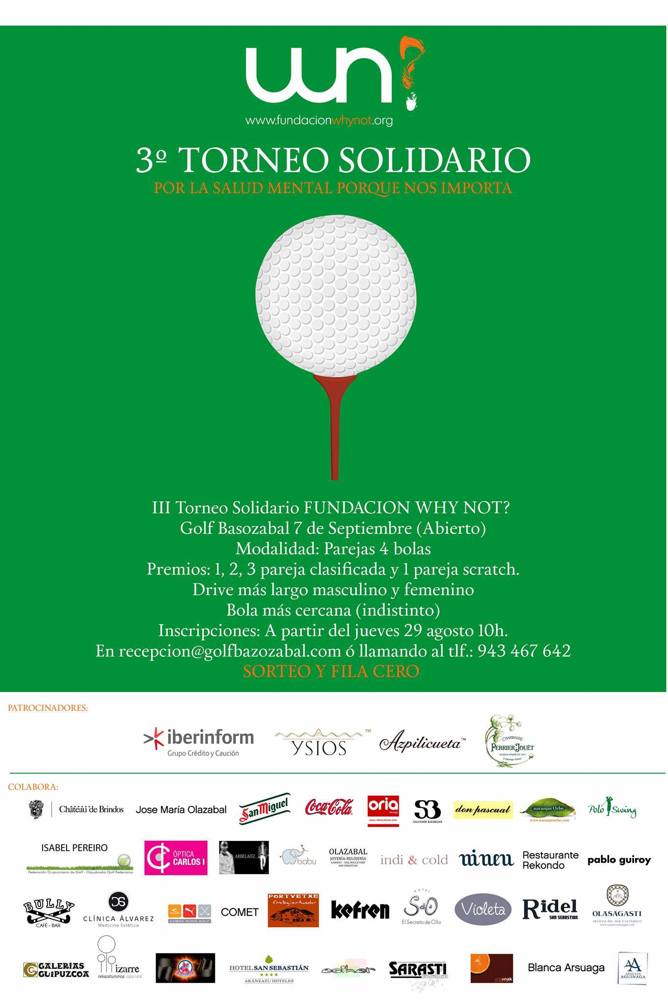3º Torneo Solidario Golf Basozabal